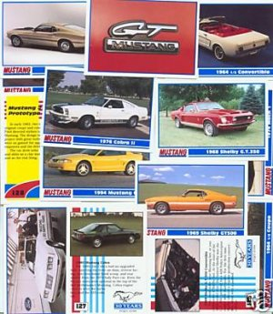 FORD MUSTANG MUSTANGS BOSS COBRA COLLECTOR CAR CARDS