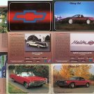 CHEVY CHEVROLET COLLECTOR CAR CARDS SET CAMARO IMPALA