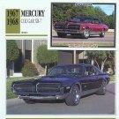 1967 67 1968 68 MERCURY COUGAR XR-7 XR7 GTE GT-E