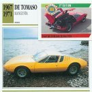 1967 1968 69 1970 1971 DE TOMASO DETOMASO MANGUSTA