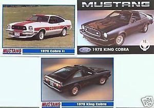 1978 78 FORD FORDS MUSTANG II COBRA KING COLLECTIBLE