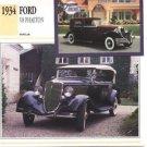 1934 34 FORD V8 PHAETON COLLECTOR COLLECTIBLE