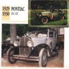 1929 29 1930 30 PONTIAC BIG SIX COLLECTOR COLLECTIBLE