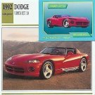 1992 92 DODGE VIPER RT/10 488 CU IN V10 ROADSTER COLLECTOR COLLECTIBLE MOPAR