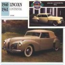 1940 40 1941 41 LINCOLN CONTINENTAL COUPE COLLECTOR COLLECTIBLE