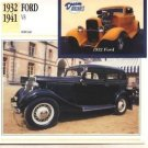 1932 32 33 34 35 36 37 38 39 40 1941 41 FORD V8 COLLECTOR COLLECTIBLE