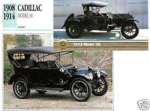 1908 1909 1910 1911 1912 1913 13 1914 CADILLAC MODEL 30 COLLECTOR COLLECTIBLE