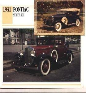 1931 31 PONTIAC SERIES 401 COLLECTOR COLLECTIBLE