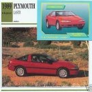 1989 89 1990 90 1991 91 1992 92 PLYMOUTH LASER RS COLLECTOR COLLECTIBLE