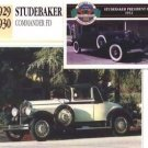1929 29 1930 30 STUDEBAKER COMMANDER FD COLLECTOR COLLECTIBLE