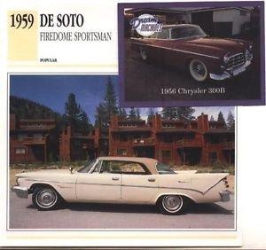 1959 59 DESOTO DE SOTO FIREDOME SPORTSMAN COLLECTOR COLLECTIBLE