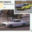 1970 70 PLYMOUTH BARRACUDA AAR CUDA MOPAR COLLECTOR COLLECTIBLE