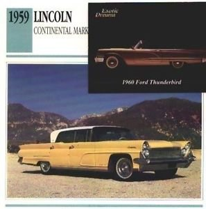 1959 59 LINCOLN CONTINENTAL MARK IV COLLECTOR COLLECTIBLE