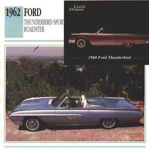 1962 62 FORD THUNDERBIRD SPORTS ROADSTER COLLECTOR COLLECTIBLE