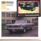 1963 63 PONTIAC GRAND PRIX COLLECTOR COLLECTIBLE