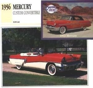 1956 56 MERCURY CUSTOM CONVERTIBLE COLLECTOR COLLECTIBLE