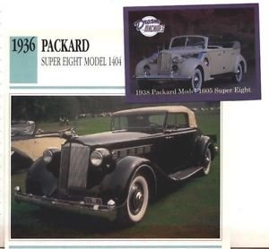 1936 36 PACKARD SUPER EIGHT MODEL 1404 COUPE ROADSTER COLLECTOR COLLECTIBLE