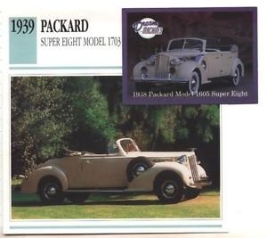 1939 39 PACKARD SUPER EIGHT MODEL 1703 CONVERTIBLE COUPE COLLECTOR COLLECTIBLE