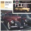 1939 39 LINCOLN ZEPHYR COUPE COLLECTOR COLLECTIBLE