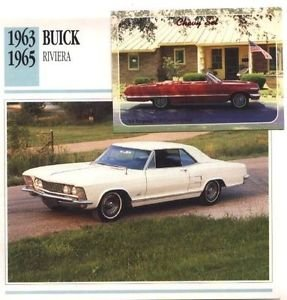 1963 63 BUICK RIVIERA COLLECTOR COLLECTIBLE
