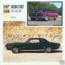 1968 68 MERCURY COUGAR XR-7 XR7 GT-E COLLECTOR COLLECTIBLE