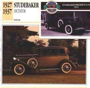 1932 32 STUDEBAKER DICTATOR REGAL ST. REGIS BROUGHAM COLLECTOR COLLECTIBLE