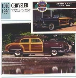 1946 46 1947 47 48 1949 49 50 1950 CHRYSLER TOWN AND COUNTRY WOODY COLLECTOR