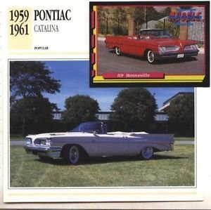 1959 59 1960 60 1961 61 PONTIAC CATALINA CONVERTIBLE COLLECTOR COLLECTIBLE