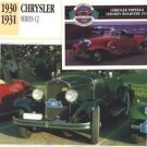 1930 30 1931 31 CHRYSLER SERIES CJ COLLECTOR COLLECTIBLE