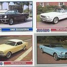 1965 65 FORD MUSTANG CONVERTIBLE COLLECTIBLE CARDS NICE