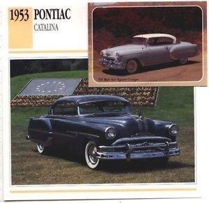 1953 53 PONTIAC DELUXE CATALINA COLLECTOR COLLECTIBLE