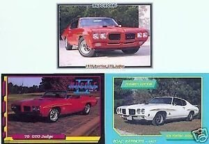 1970 70 PONTIAC GTO JUDGE COLLECTOR CARDS MUSCLECARDS