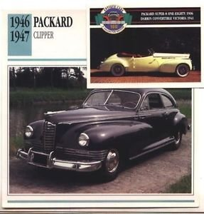1946 46 1947 47 PACKARD CLIPPER COLLECTOR COLLECTIBLE