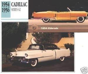 1954 54 CADILLAC SERIES 62 SIXTY TWO ELDORADO COLLECTOR COLLECTIBLE