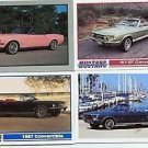 1967 67 FORD MUSTANG CONVERTIBLE COLLECTIBLE CARDS