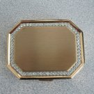 Vintage Rhinestone Gold Avon Compact with Mirror