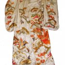 Beautiful Vintage Kimono - White Embroidered Designs
