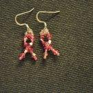 Breast Cancer Awareness Swarovski Crystal Earrings
