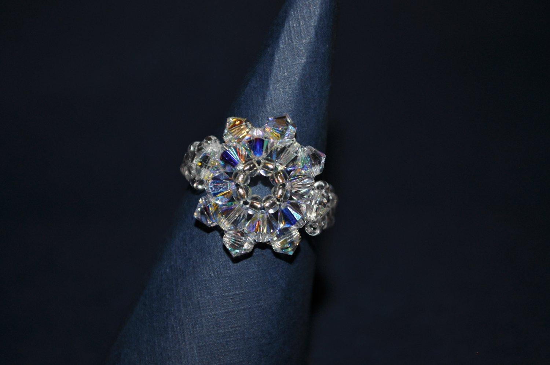 Crystal AB Swarovski Ring