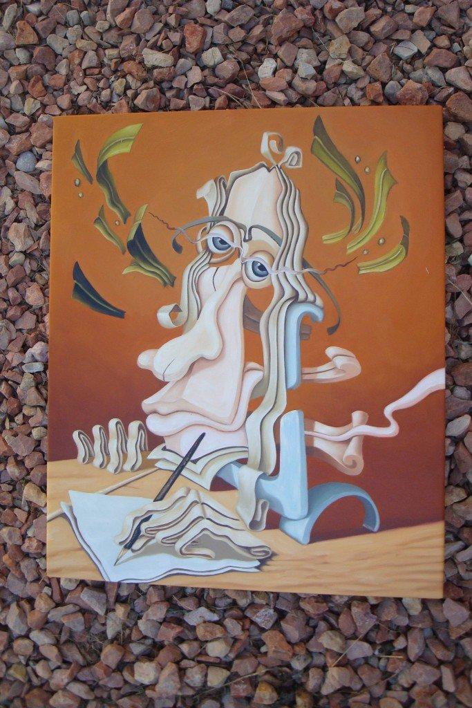 ORIGINAL MODERN Surrealism OIL PAINTING own REAL ART!
