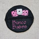 Bunco Babes Wine Glass Footie