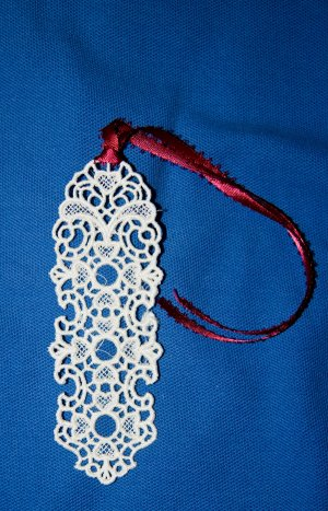 Elegant Lace Heart Bookmark
