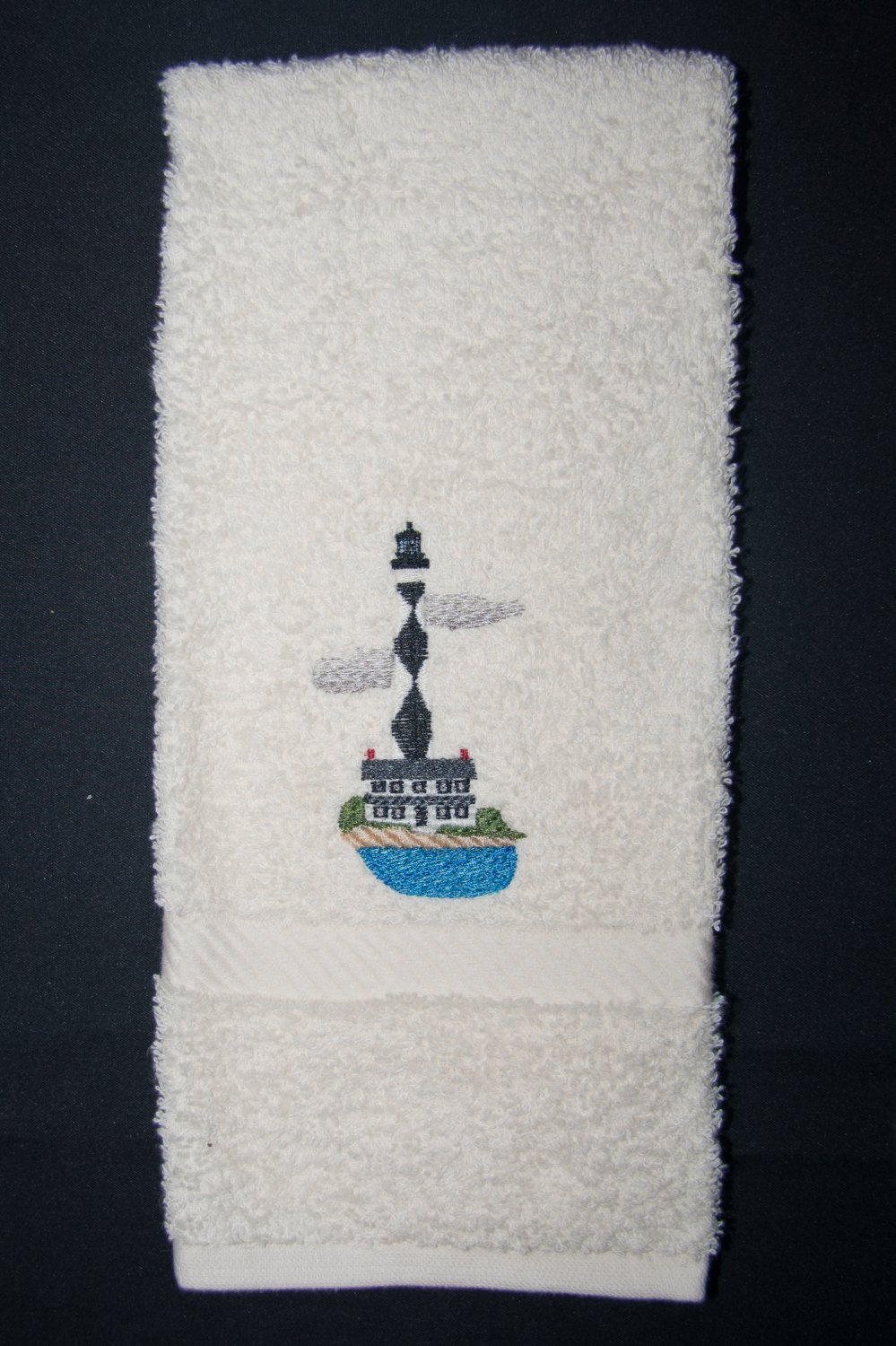 Cape Lookout Lighthouse Hand Towel