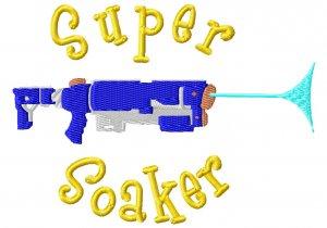 Super Soaker Embroidery Design