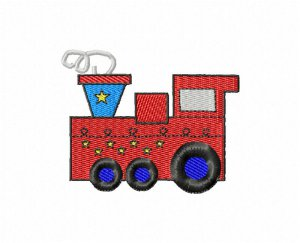 Toy Train Embroidery Design
