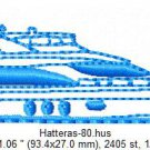 Hatteras 80 Yacht Embroidery Design