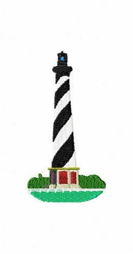 Hatteras Lighthouse Machine Embroidery Design