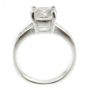 Sterling Silver Engagement Ring (DRR1430)