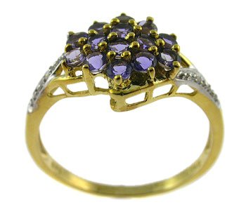#101. 10K Yellow Gold Elegant Ring (GRR138)