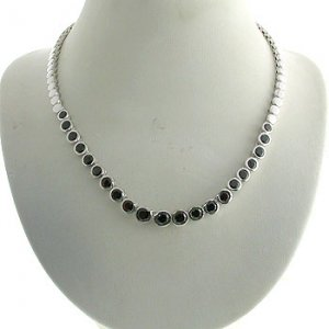 #203. Silver with Genuine Garnet Necklace